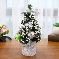 Home Decoration Artificial Tabletop Mini Christmas Tree Decorations Festival Miniature Tree