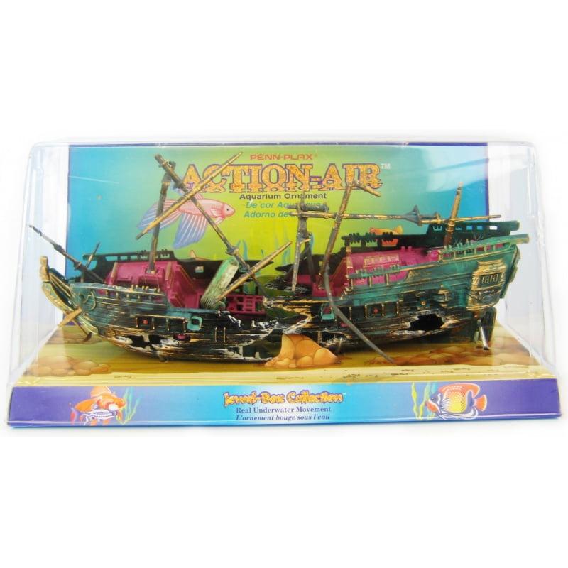 Action-Air Split Shipwreck Aquarium Ornament Split Shipwreck
