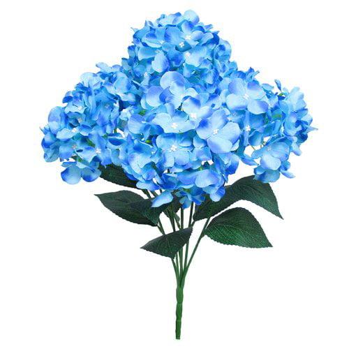 Charlton Home Deluxe Bush Hydrangea Floral Arrangement (Set of 2)
