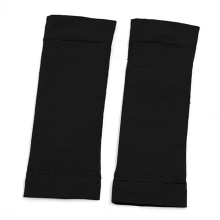 Black Weight Loss Arm Shaper Fat Buster Off Cellulite Slimming Sleeves Pair - image 4 de 4