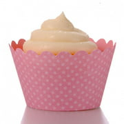 Dress My Cupcake Standard Cherry Blossom Pink Cupcake Wrappers, Set of 12