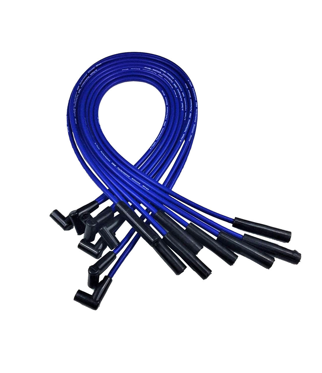 SILICONE PLUG WIRE FORD BIG BLOCK 351C-429-460 BLUE Small Cap HEI Distributor