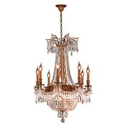 "Winchester Collection 12 Light French Gold Finish and Clear Crystal Chandelier 24"" D x 31"" H Large"