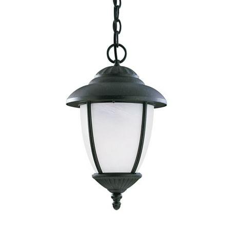 - Sea Gull Lighting Yorktown 1 Light Outdoor Pendant, Forged Iron - 60048EN3-185