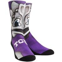 TCU Horned Frogs Rock Em Socks Youth Mascot Crew Socks