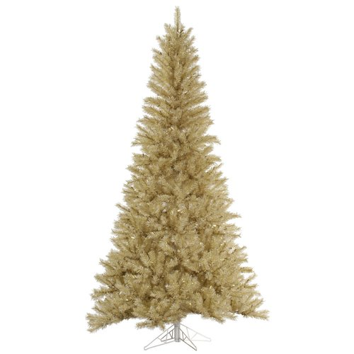The Holiday Aisle 14' White/Gold Tinsel Christmas Tree