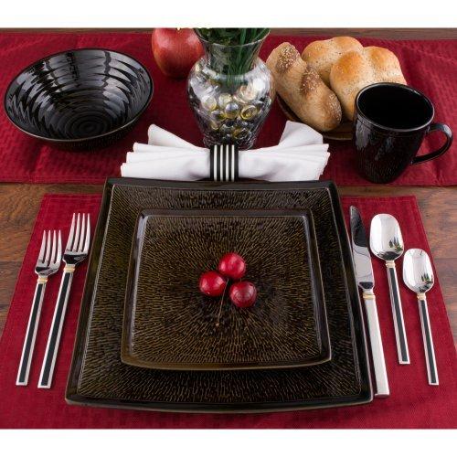 Sango Galaxy 16 Piece Dinnerware Set - Black