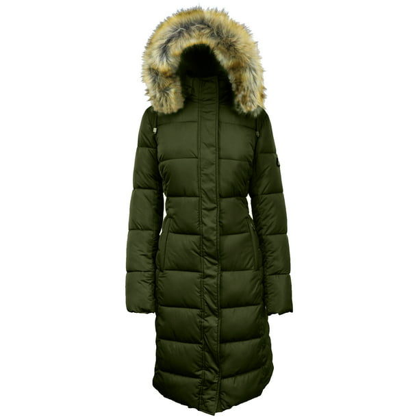 long parka womens : Iceburg Women's Long Insulated Parka