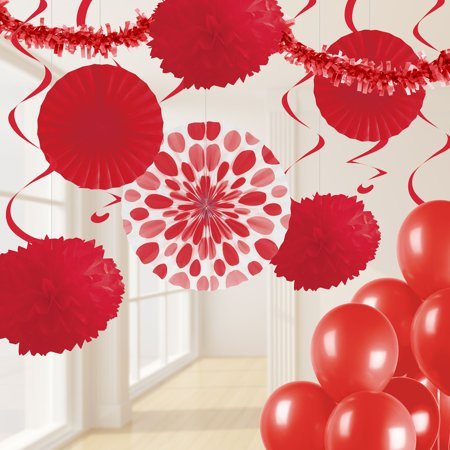Classic Red Party Decorations Kit (Classic Decorations)