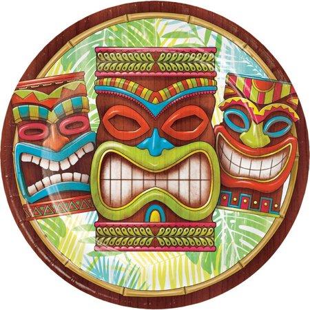 Tiki Plates - Creative Converting Tiki Time Paper Plates, 8 ct