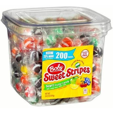 Bobs Sweet Stripes Soft Fruit Candy  34 5 Oz