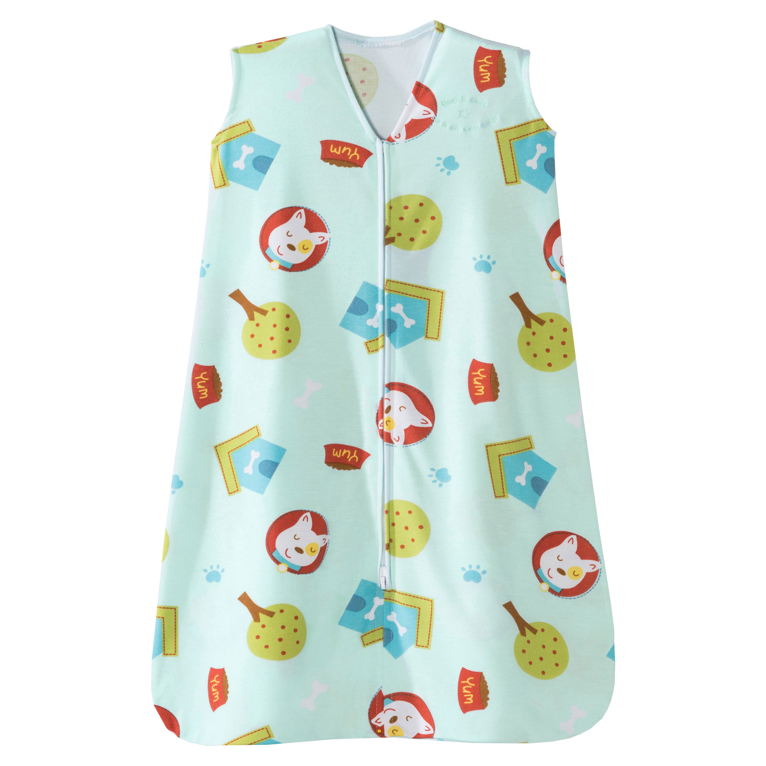 HALO SleepSack Wearable Blanket - Poly Knit - Sleeveless Dogs and Paws  -Medium - 6-12 Months, 16-24 pounds