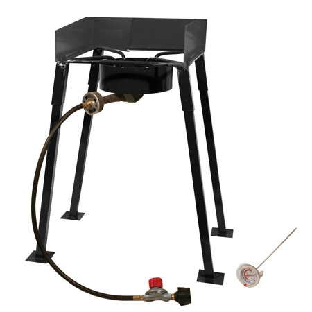 King Kooker 25   Tall Heavy Duty Portable Propane Single Burner Outdoor Cooker  Camp Stove
