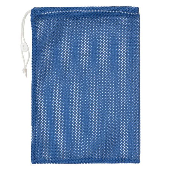 "Champion Sports 12x18"" Heavy Duty Nylon Mesh Equipment Bag w  Drawstring, Blue by Champion Sports"