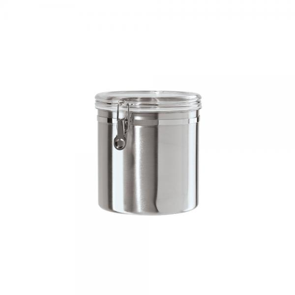 Oggi 130 Ounce Jumbo Stainless Steel Kitchen Airtight Canister With Clear  Arylic Lid And Locking