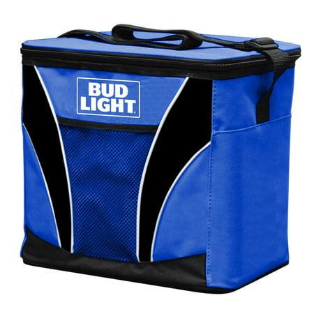 24 Can Bud Light cooler withy mesh pocket and shoulder strap