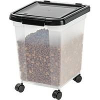 IRIS 32.5 Quart Airtight Pet Food Container, Black