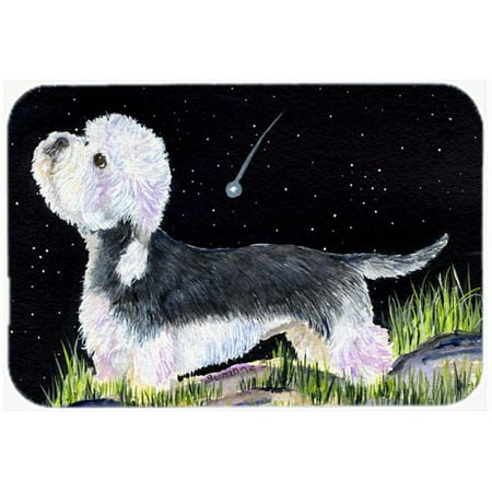 Caroline's Treasures Starry Night Dandie Dinmont Terrier Glass Cutting Board