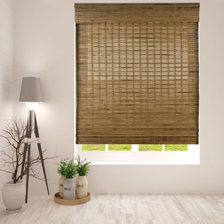 "Arlo Blinds Dali Native Cordless Bamboo Shade - Size: 19""W x 60""H, Innovative Cordless Lift System ensures safety and ease of use"