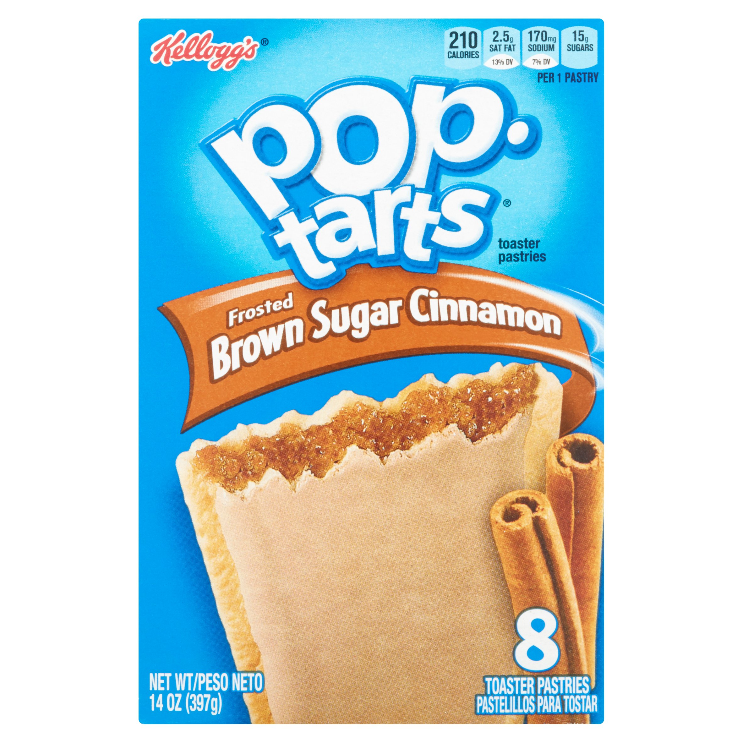 Kellogg's Pop Tarts Frosted Brown Sugar Cinnamon Toaster Pastries, 8 count, 14 oz, 12 pack by Kellogg Sales Co.