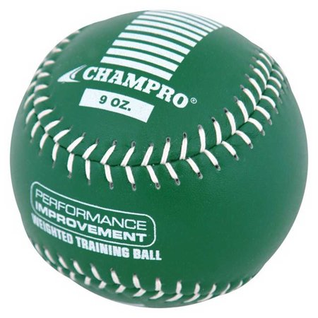 Glow In The Dark Softball (CHAMPRO SPORTS Training Softball, Weighted 9oz Green Leather Ball)