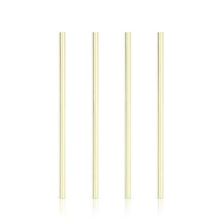 Belmont: Wide Gold Cocktail Straws (VISKI)