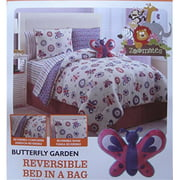 Luxury Home Butterfly Bed in A Bag, Twin - 7 Piece Set