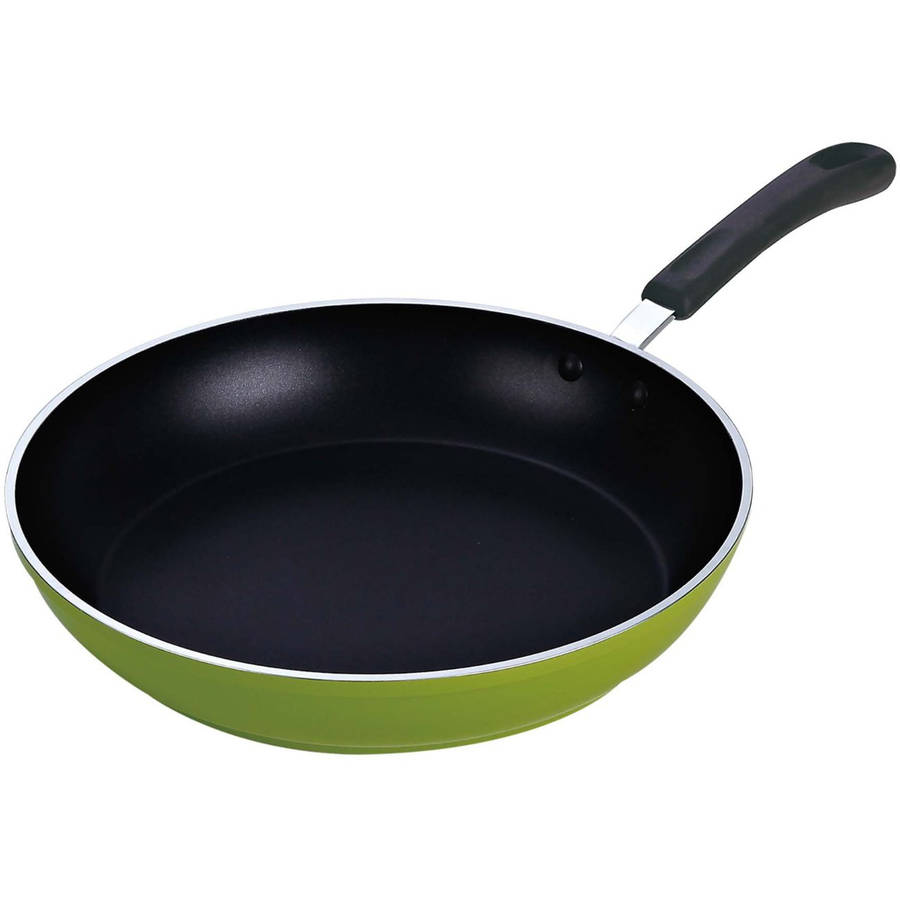 """Cook N Home 12"""" Frying Pan Saute Pan with Non-Stick Coating Induction Compatible, Green by Neway International Inc"""