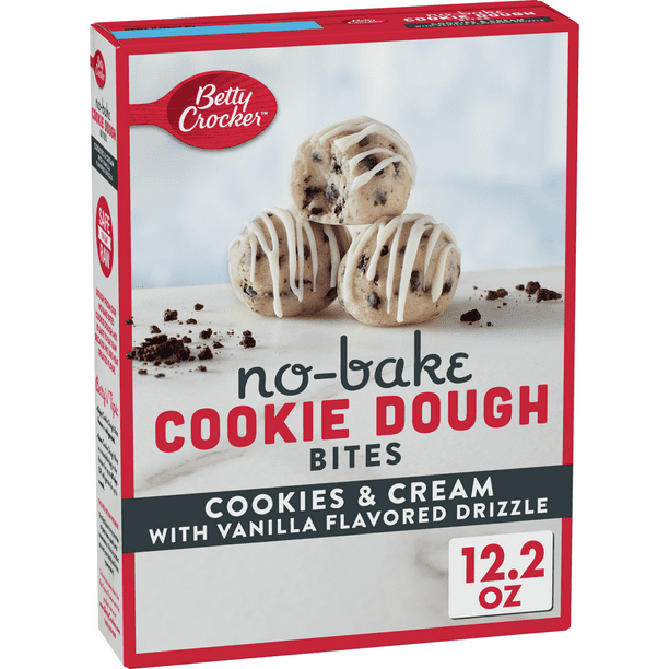 Betty Crocker Cookie Dough Cookies And Cream Bites 12 2 Oz Walmart Com Walmart Com