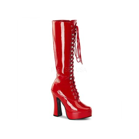 ELE2020/R Pleaser Platforms (Exotic Dancing) Knee High Boots RED Size: 11