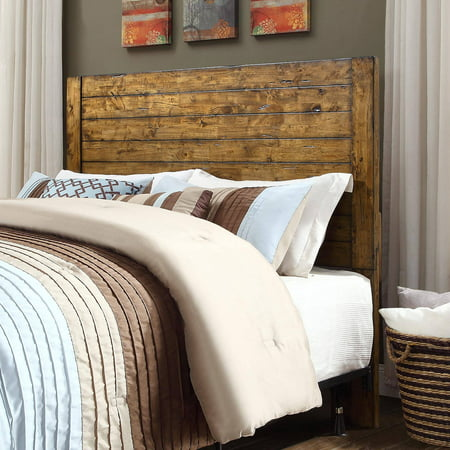 - Better Homes and Gardens Bryant Full/Queen Solid Wood Headboard, Rustic Brown Finish