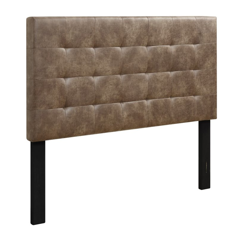Samuel Lawrence Maverick Upholstered Full Panel Headboard in Brown