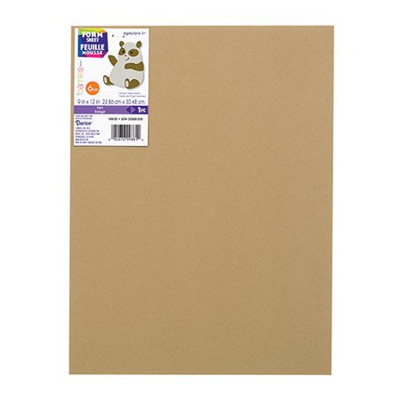 Foamies Extra Thick Foam Sheet - Tan - 6Mm Thick - 9 X 12 Inches