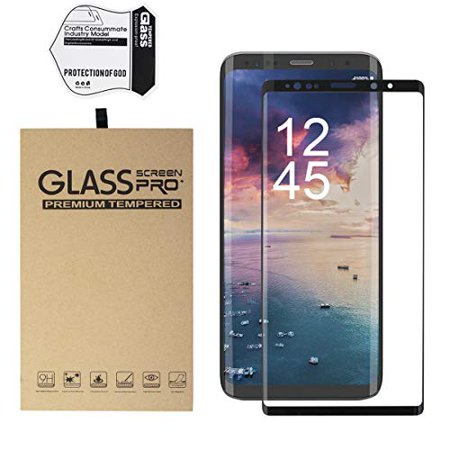 Galaxy Note 9 Screen Protector, Mignova Full Screen Tempered Glass Screen Protector, Edge to Edge Protection Screen Cover for Samsung Galaxy Note 9 [3D 9H Hardness](Black) - 3d Halloween Screensaver