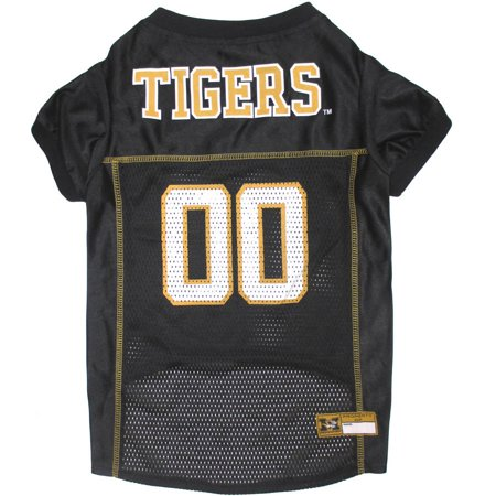 Pets First College Missouri Tigers Collegiate Dog Jersey, Available in Various Sizes