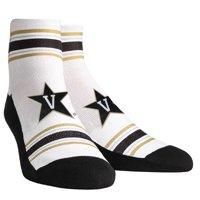 Vanderbilt Commodores Rock Em Socks Women's Classic Stripes Quarter-Length Socks