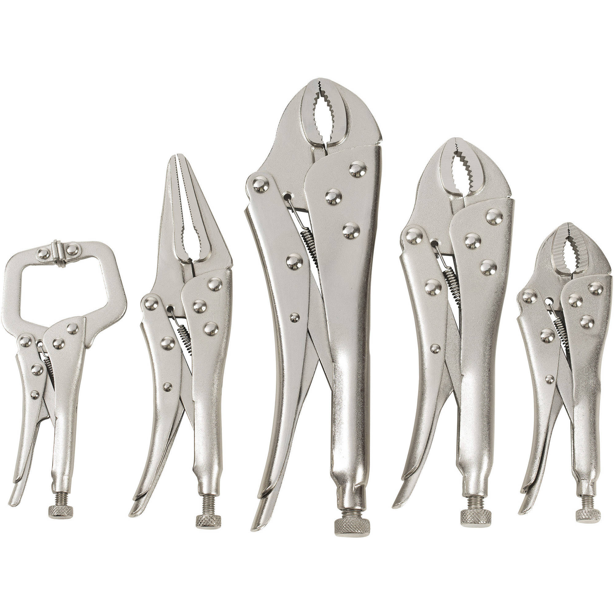 Hyper Tough Locking Pliers, 5-pieces