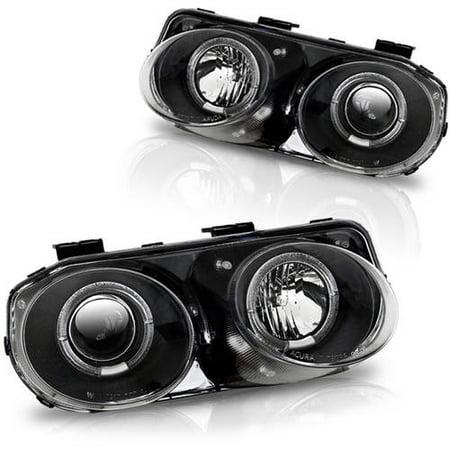 2000 Acura Integra Special Edition (Headlight For 98-01 Acura Integra Black/Clear Lens,)