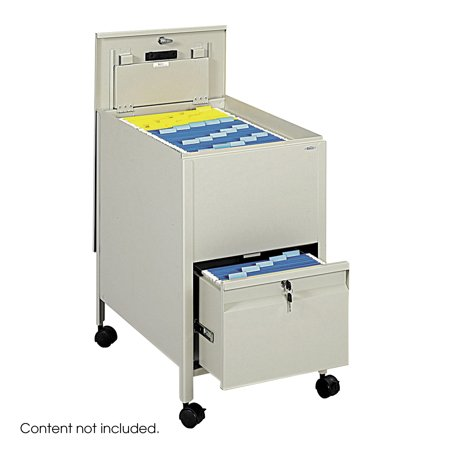 - Safco 5364PT Steel Filing Carts Locking Mobile Tub File with Drawer, Letter Size