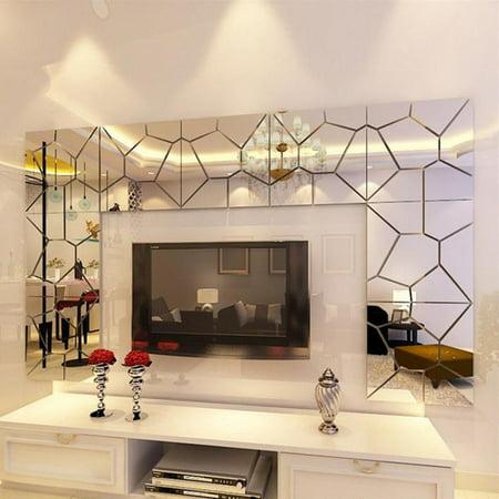 Adhesive Removable Modern Mirror Tile