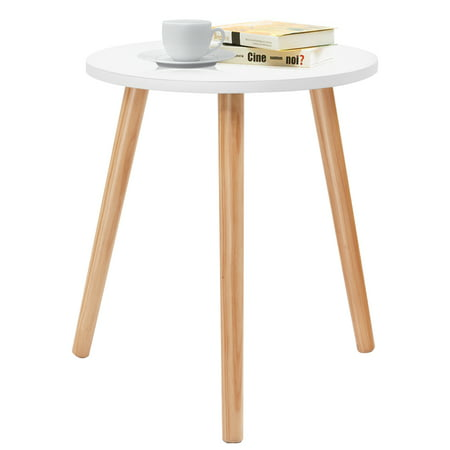 Costway Modern Round Coffee Tea Side Sofa Table Living Room Furniture Home Decor ()