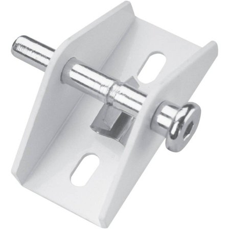Defender Security U 9855 Sliding Door Lock, Push/Pull, White