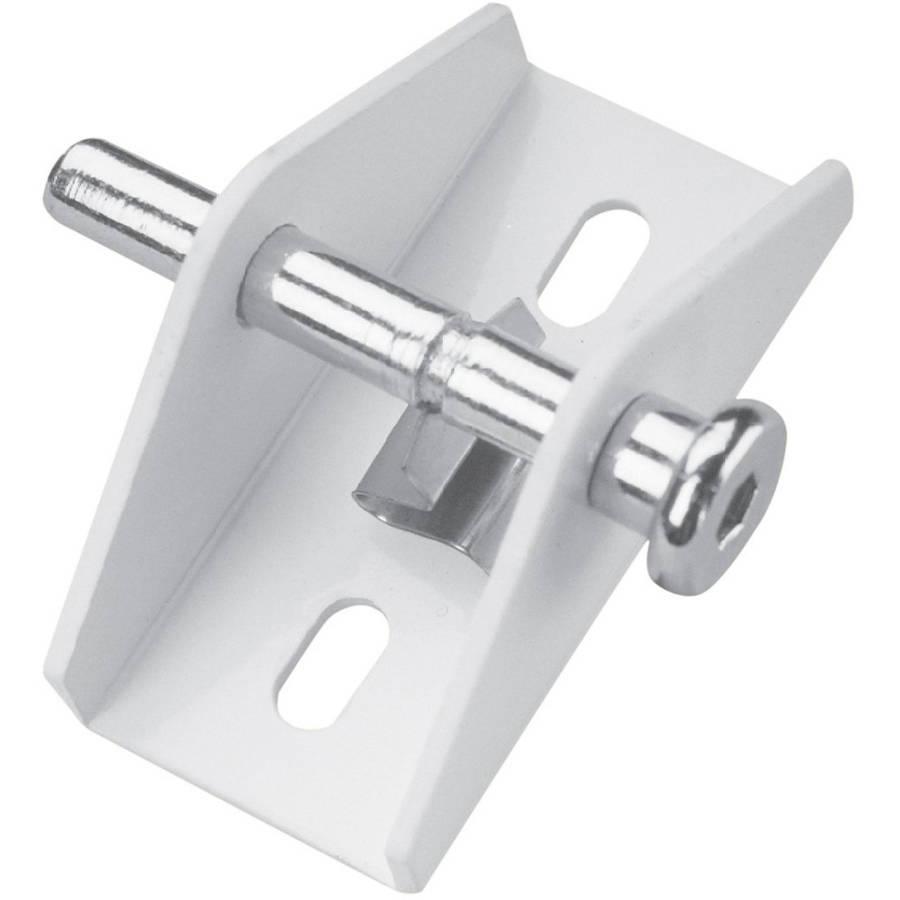 Defender Security U 9855 Sliding Door Lock, Push/Pull, White Finish