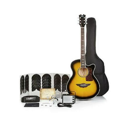 Keith Urban Acoustic Electric Guitar On Tour 40-pc Guitar Pkg Brazilian Burst (Right) (Burst Deluxe Guitar)