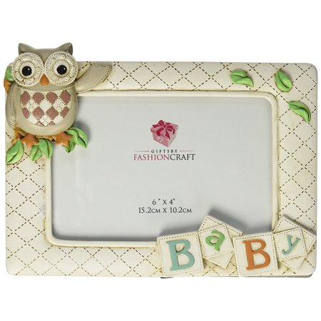 Baby Owl Frame from Gifts, Each Frame is lovingly Hand painted in classic vintage shades of brown, tan, Green and orange, making it ideal for a girl.., By