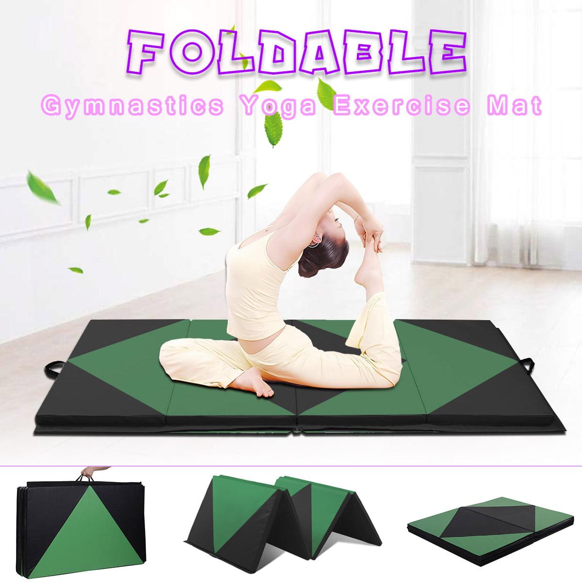 Large Folding Panel Yoga Mat Exercise Sport Gymnastics Thick Gym Fitness Large Tumbling Mat 8'x4'x2''