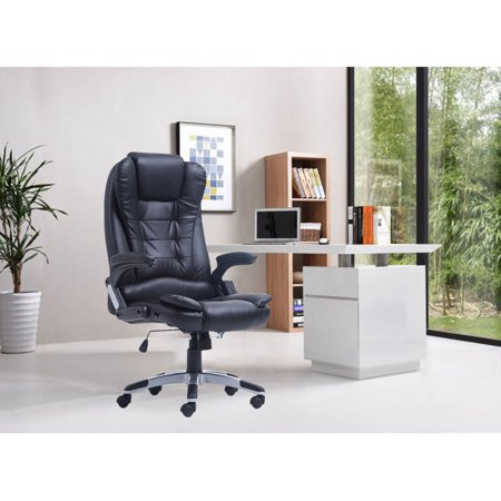 Surprising Swivel Gaming Massage Chair Ergonomic Pu Leather Executive Creativecarmelina Interior Chair Design Creativecarmelinacom