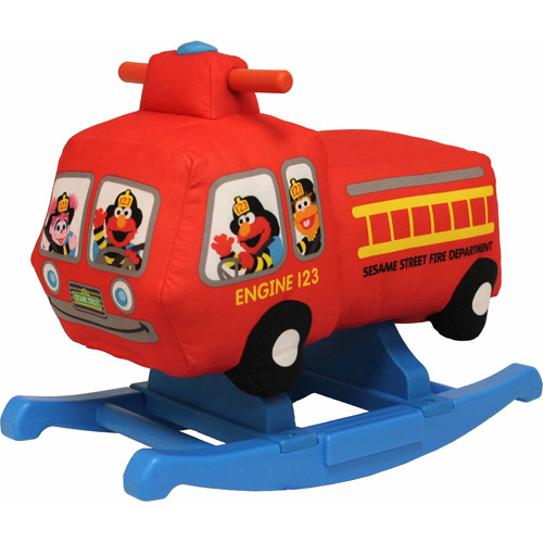 Sesame Street Rocking Fire Truck Ride-On