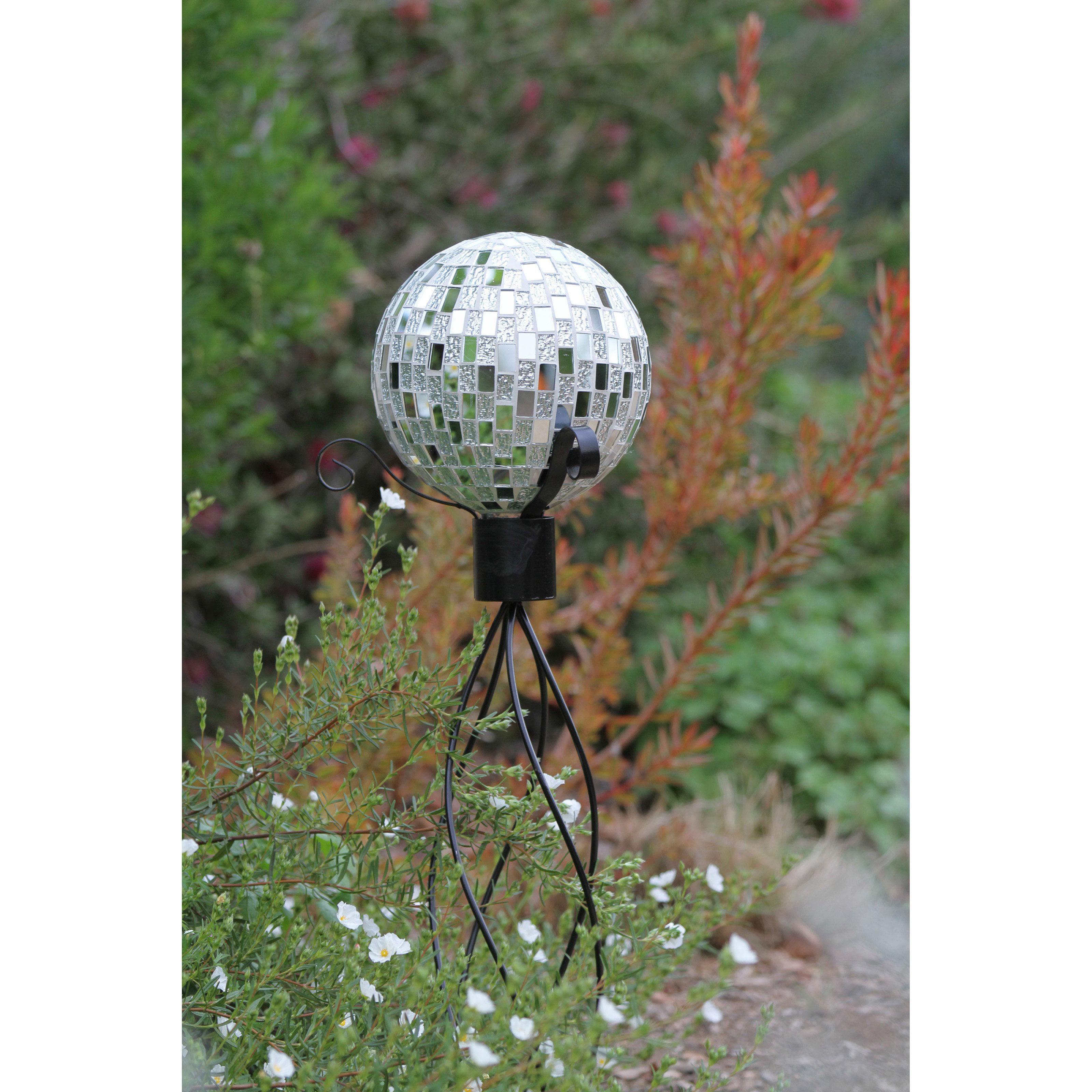 Mosaic Silver Gazing Ball by Alpine Corporation