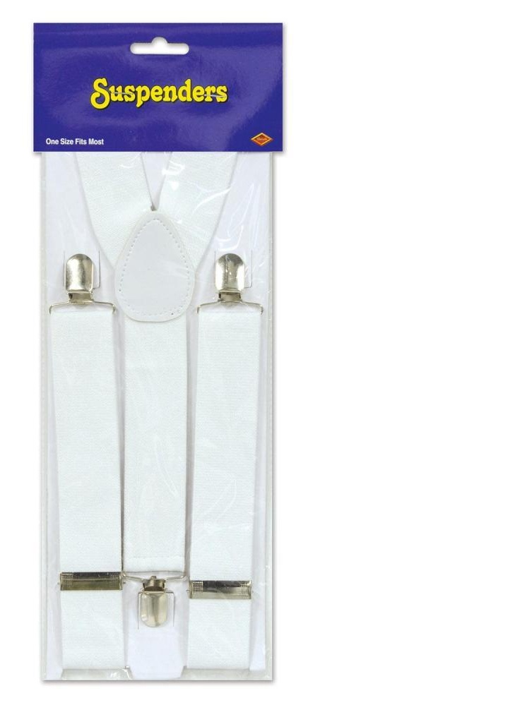 (Pack of 12) White Suspenders